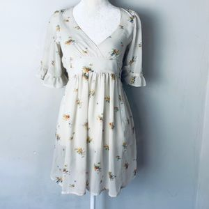 Betsey Johnson floral sheer dress size extra small
